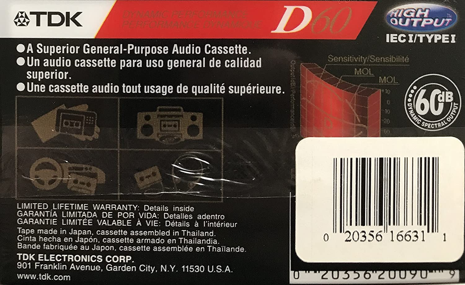Amazon.com: TDK D60 IECi/TypeI High Output Blank Cassette Tape: Home Audio & Theater