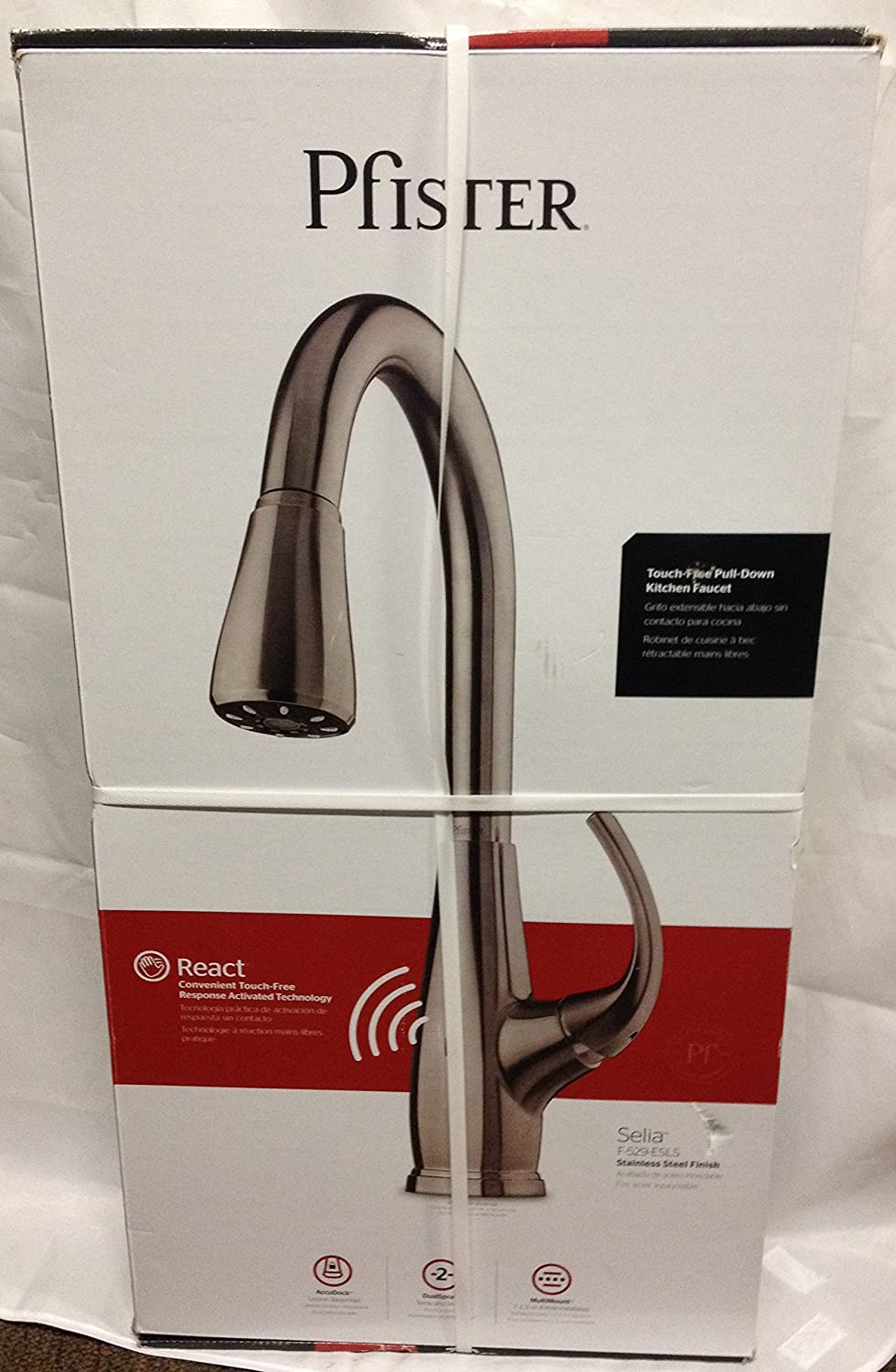 Pfister Selia Kitchen Faucet Selia Touch Free Pull Down Kitchen Faucet With React F 529 Esls