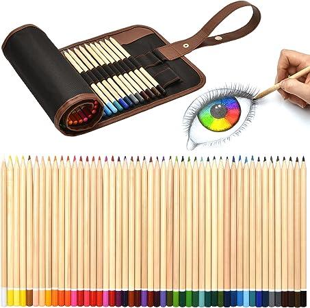 48-tlg Buntstifte Set Zeichenset Bleistifte Zeichnen Skizzieren Zeichenstift DE