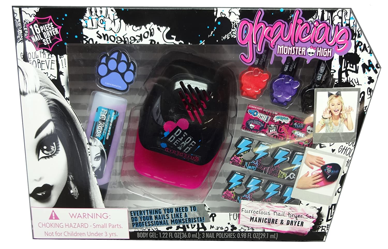 Amazon.com: Monster High Ghoulicious Furrocious Nail Dryer ...