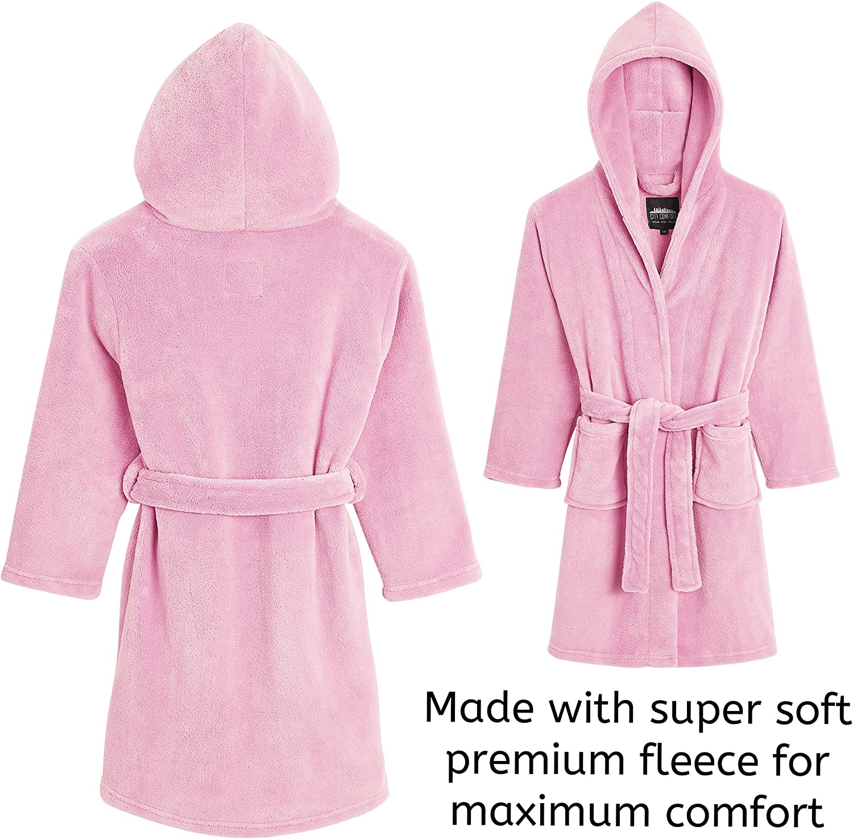 para ni/ños rosa con capucha con cintur/ón color morado regalo para ni/ñas y adolescentes de 5 a 14 a/ños Albornoz de CityComfort para ni/ñas supersuave