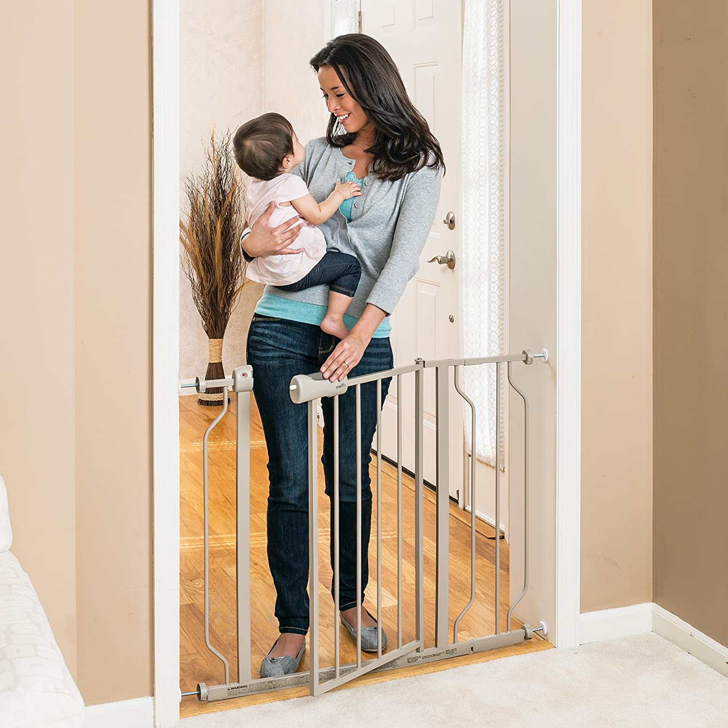 Amazon.com  Evenflo Easy Walk Thru Doorway Gate Tan  Indoor Safety Gates  Baby : baby door - pezcame.com