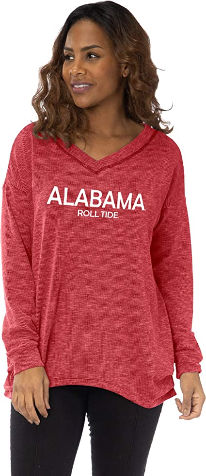 Flying Colors NCAA The Bailey II Sandwashed Relaxed Rib Knit V Neck Tunic