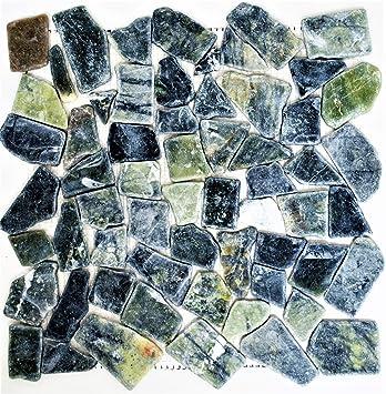 Fliesen Mosaik Mosaikfliesen Marmor Boden Bad Wc Kuche Grau Grun