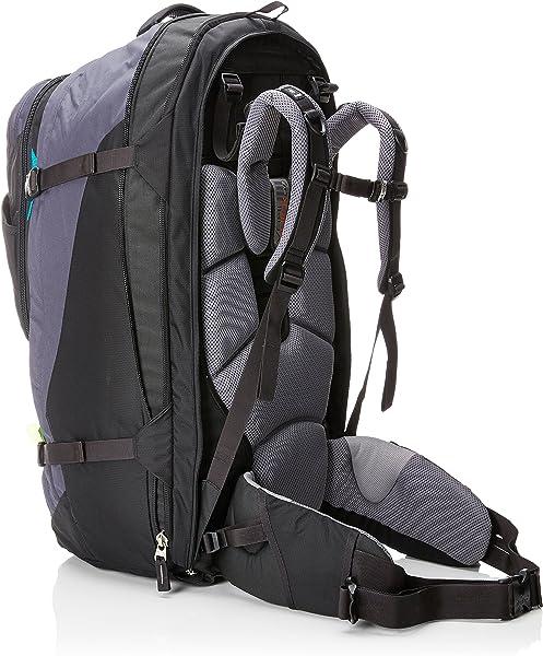 0dfdf582f2 Deuter Traveller 60 + 10 SL - Zaini Unisex Adulto, Nero (Black/Turquoise),  24x36x45 cm (W x H L)