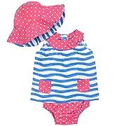 Gerber Baby Girls' 3-Piece Dress Set, Waves, 6-9 Months