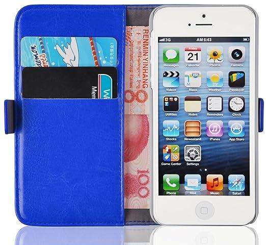 163 opinioni per Cover iPhone 5s, JAMMYLIZARD Custodia Luxury Wallet a Libro in Pelle per iPhone