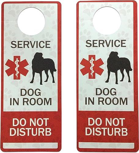 Leash Boss Service Dog Door Hanger – Plastic – 2 Pack – Do Not Disturb Sign
