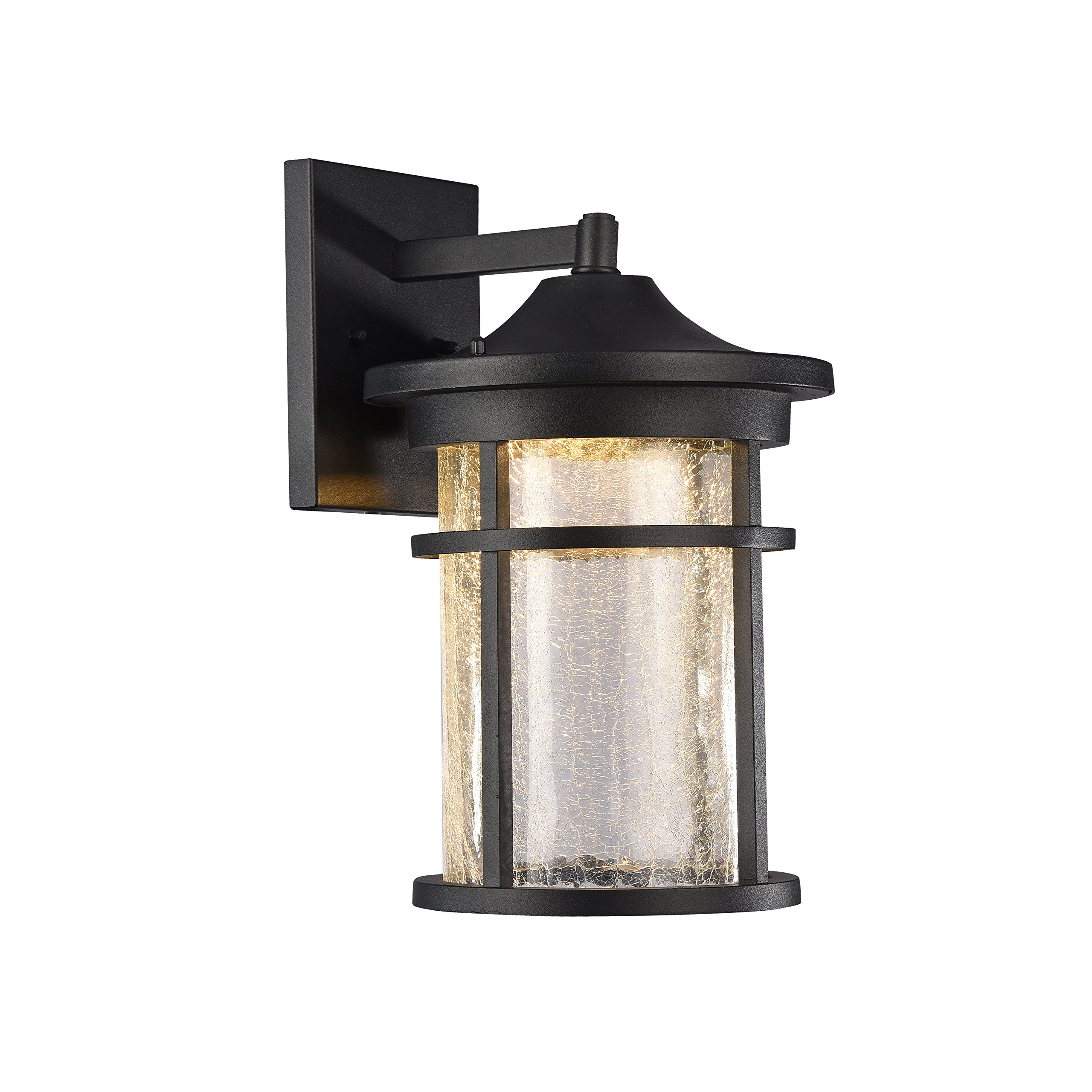Chloe Lighting CH22L52BK15-OD1 Frontier Transitional Outdoor Wall Sconce with 15'' Height