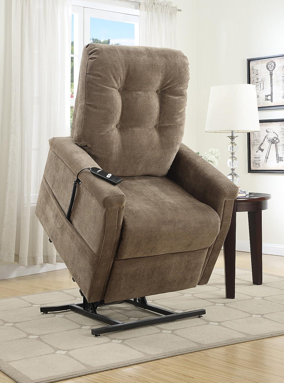 amazoncom pulaski montreal coffee fabric lift chair brown kitchen u0026 dining