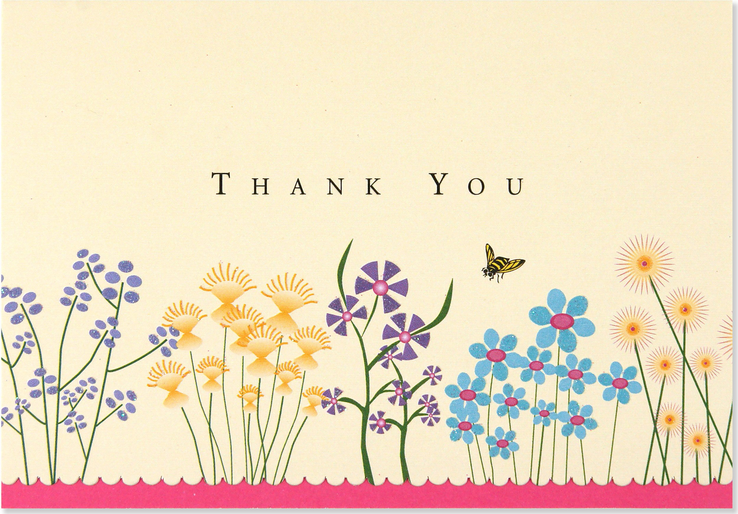 Sparkly Garden Thank You Notes Stationery Note Cards Peter