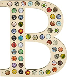 CAPLORD Beer Cap Holder Map - Wall Decor Art for Craft Beer Lovers for Bottle Cap Collector (Letter B)
