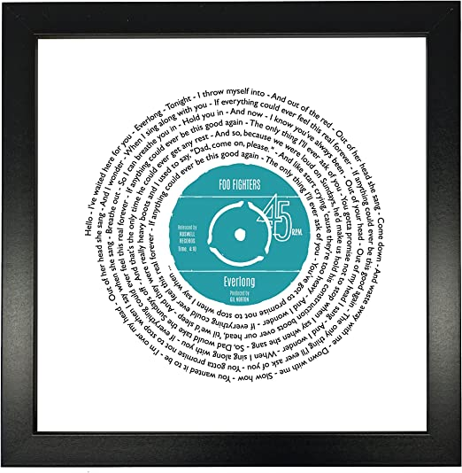 VINYL RECORD PRINT Anniversary Gift for Him Any first dance our song lyrics