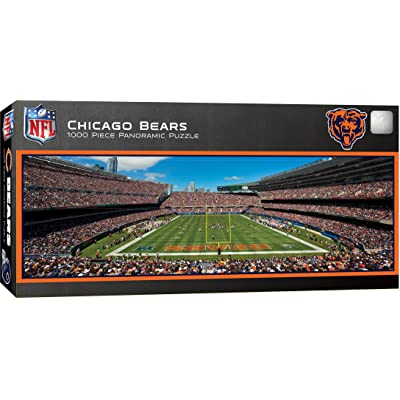 MasterPieces NFL Chicago Bears Stadium Panoramic Jigsaw Puzzle, 1000 Pieces: Sports & Outdoors
