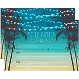 amazon com beach theme fill in invitations any occassion