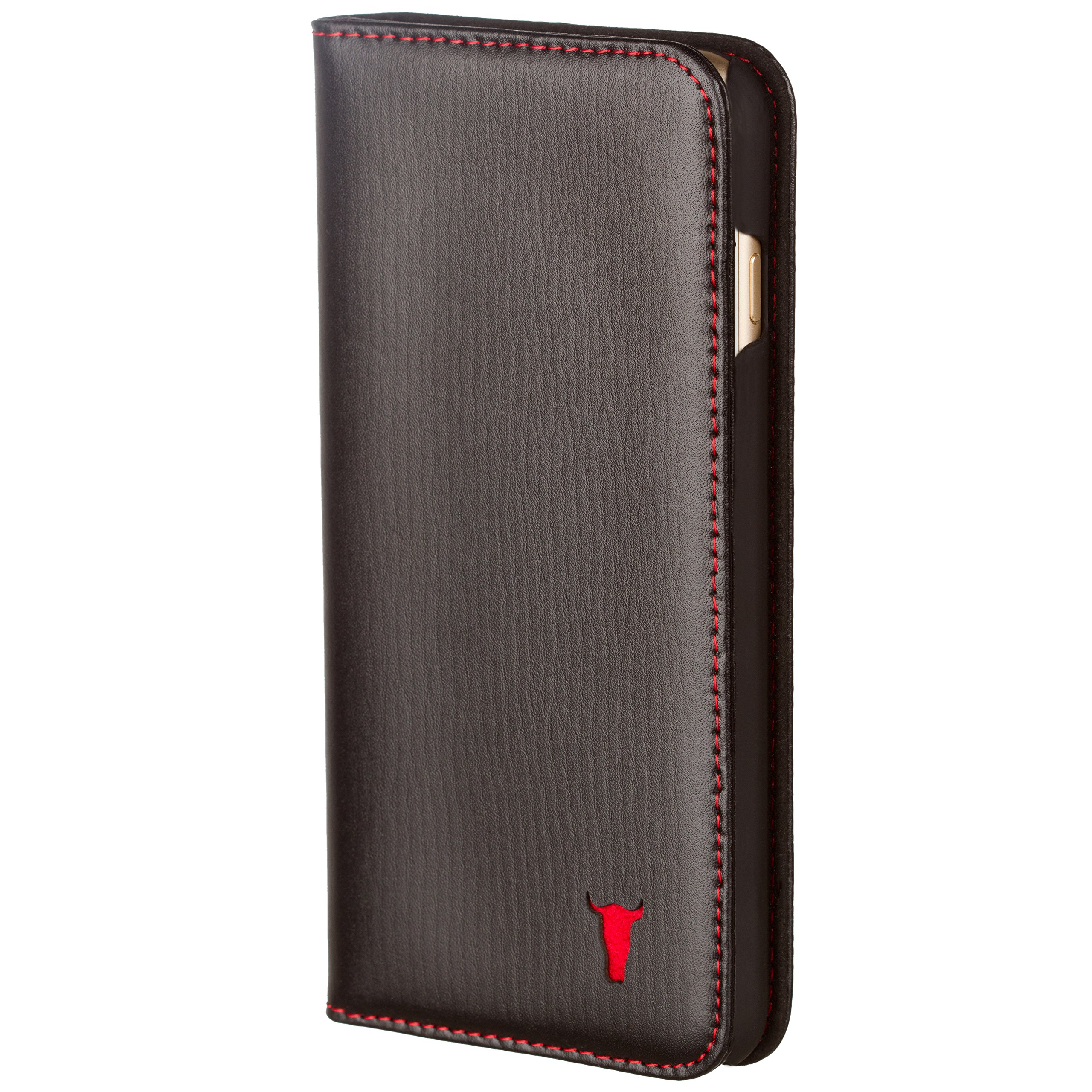 TORRO iPhone 8 Plus Case/cover. Premium Slim Leather Stand Case for Apple iPhone by (iPhone 7 Plus/8 Plus Black)