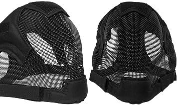 Almohadillas de calidad Full Face máscara de esgrima BB Airsoft malla máscara MA19, negro