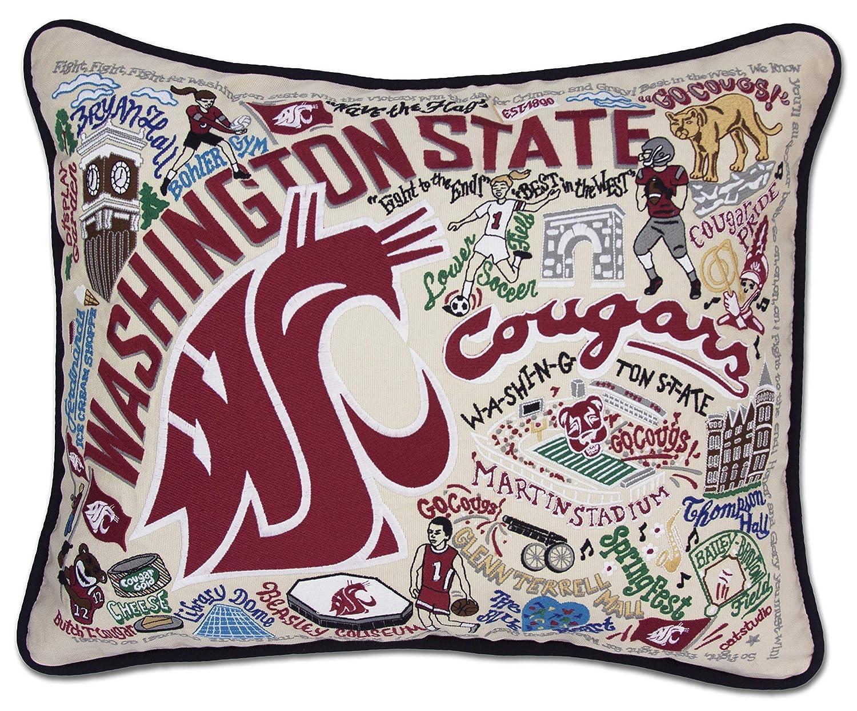 ワシントン状態大学Collegiate刺繍枕 – Catstudio B01KU07XMM