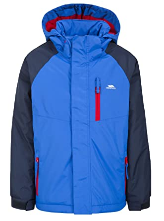 1fd857a38c65 Trespass Lomont, Blue, 2/3, Warm Padded Waterproof Jacket with removable  Hood
