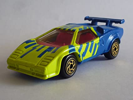 Buy Matchbox Neon Yellow And Blue Lamborghini Countach 67 1993