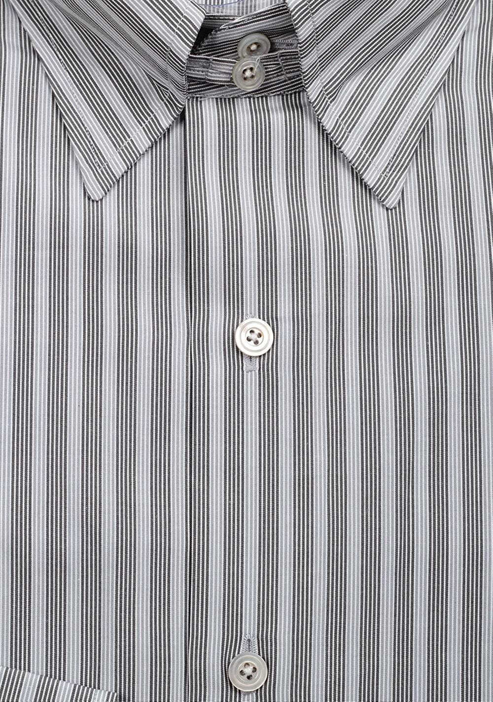 CL Tom Ford Striped Gray High Collar Dress Shirt Size 40//15,75 U.S.