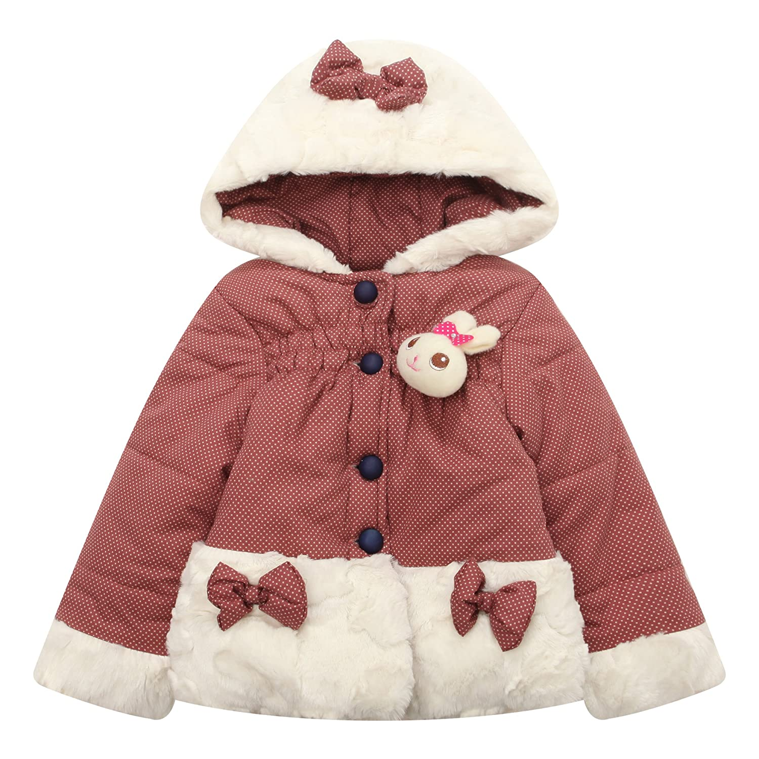 Richie House Little Girls Padding Jacket with HoodRH1404