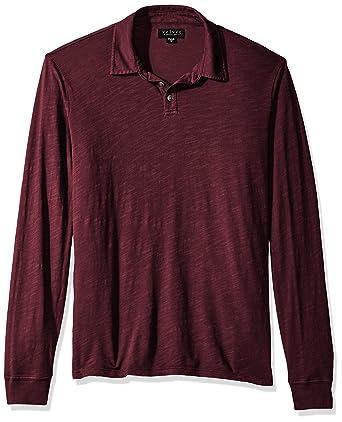 e6fc9c8e9c2 Velvet by Graham   Spencer Men s Tyson Long Sleeve Polo Shirt in Cotton  Slub