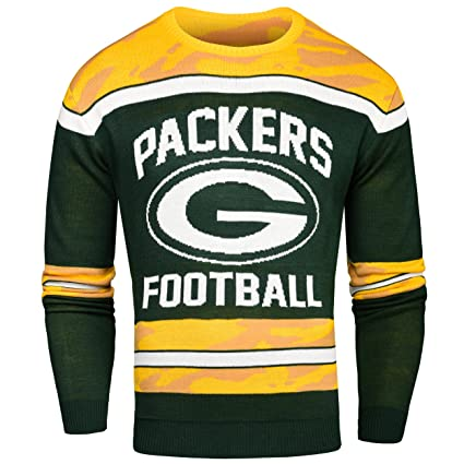 various colors 918fe fe79a Green Bay Packers Ugly Glow In The Dark Sweater - Mens Large