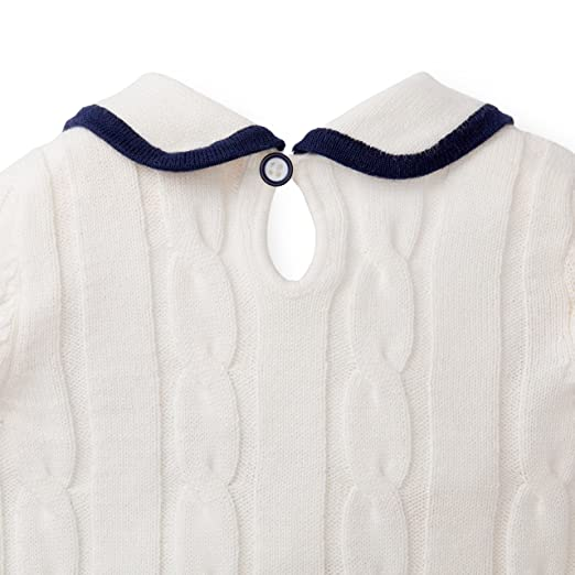 7a48891a5ad2 Amazon.com  Hope   Henry Layette Girl White Sailor Sweater Dress  Clothing