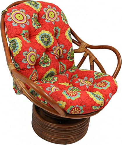 Best outdoor chair cushion: Blazing Needles Patterned Outdoor Spun Polyester Swivel Rocker Cushion