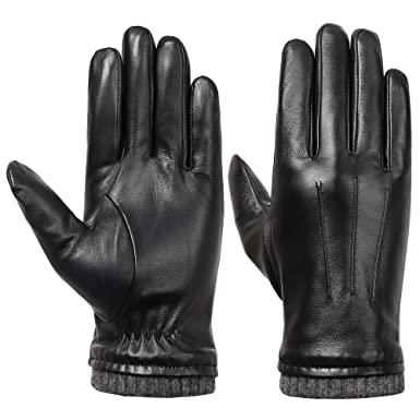 fdf8e29f6b006 Mens Genuine Leather Gloves Winter - Acdyion New Design Touchscreen Outdoor  Windproof Driving Gloves With Fleece