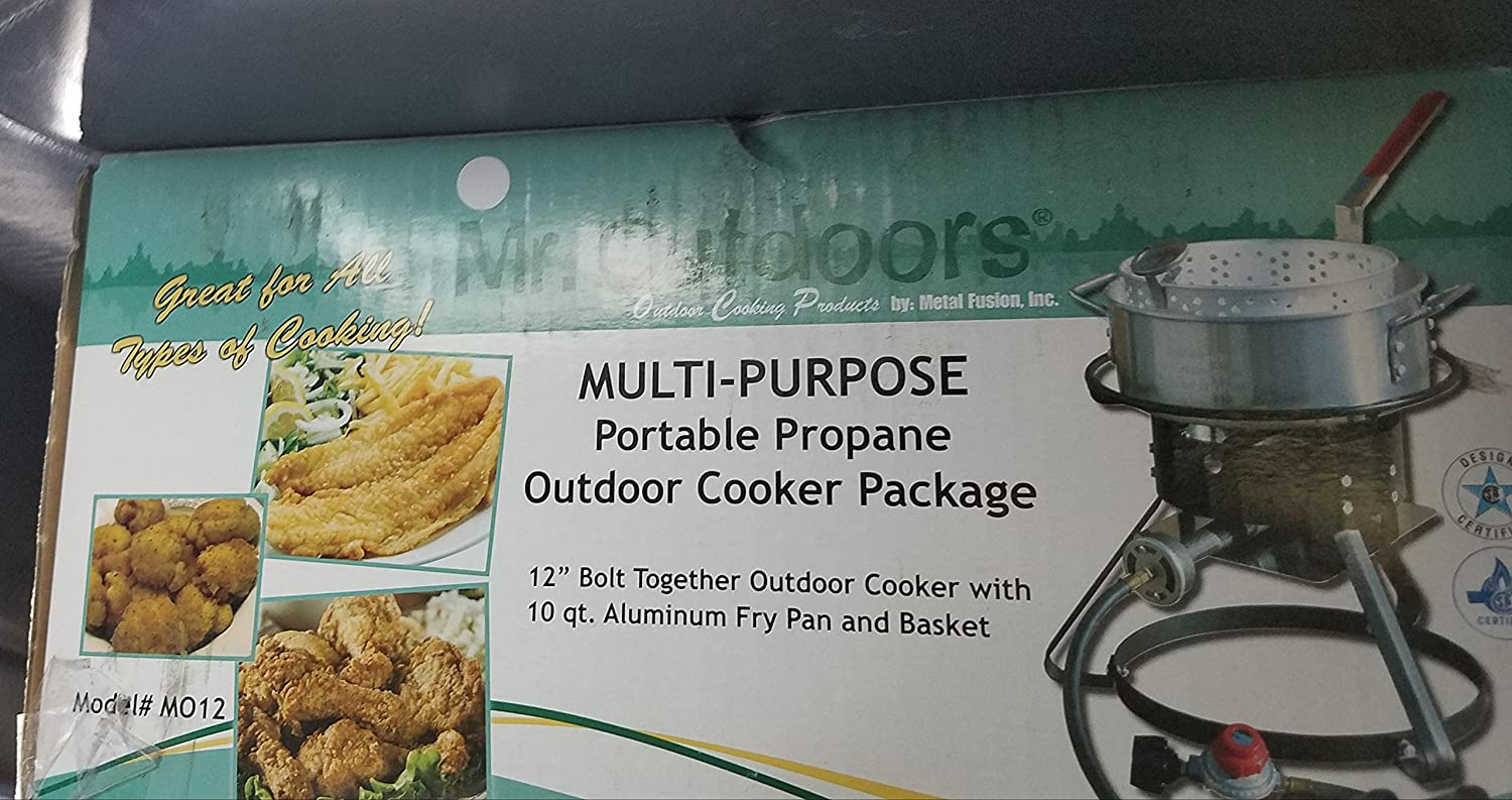 10 qt. Aluminum Fry Pan Multi-Purpose Outdoor Cooker Package Metal Fusion Inc. MO12