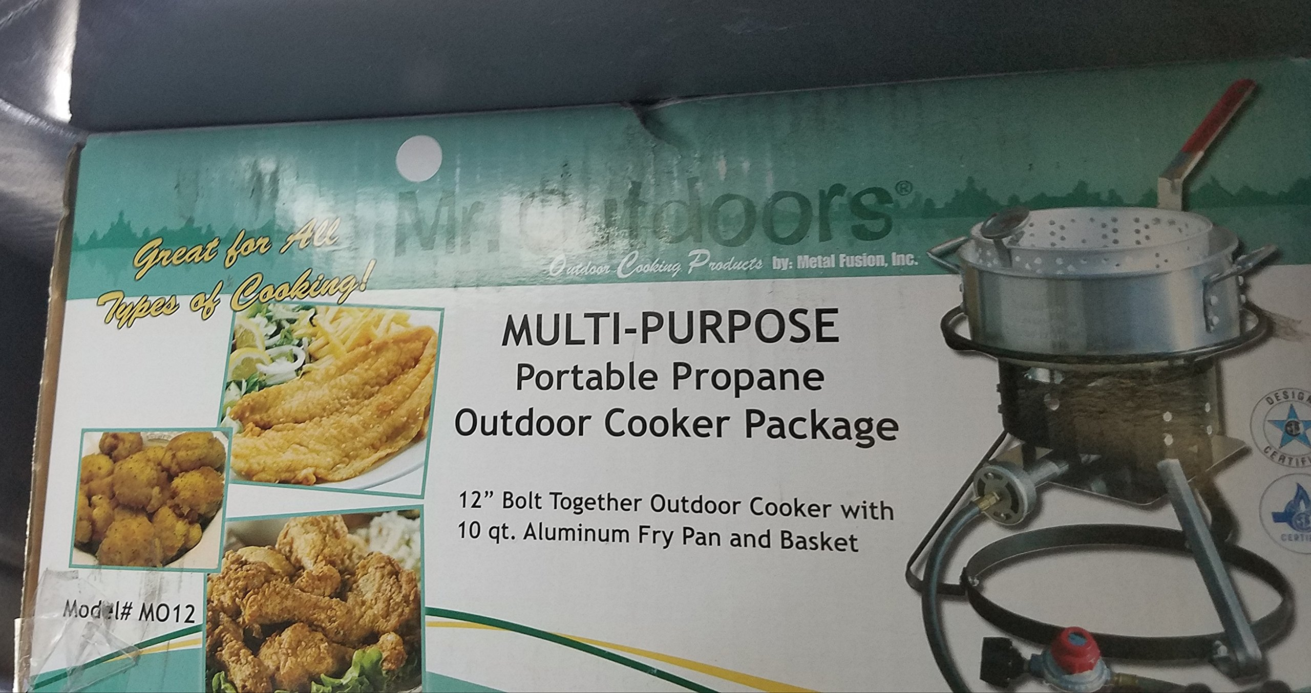 10 qt. Aluminum Fry Pan Multi-Purpose Outdoor Cooker Package by Mr. Outdoor