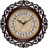 Arpan Vintage Retro Style Wall Clock for Kitchen Living Room, Home, Hotel Decoration- Ideal Gift for Birthday, Friendship Day, Anniversary (Brown)