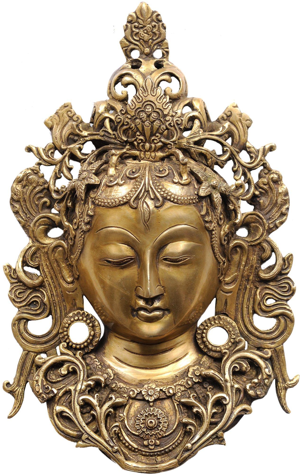 Wall Hanging Tara Mask - Brass Statue