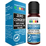 Organix Mantra Zero Congest Pure Blend Of Tea Tree, Lavender, Peppermint, Eucalyptus Oil For Sinus Relief - 10Ml