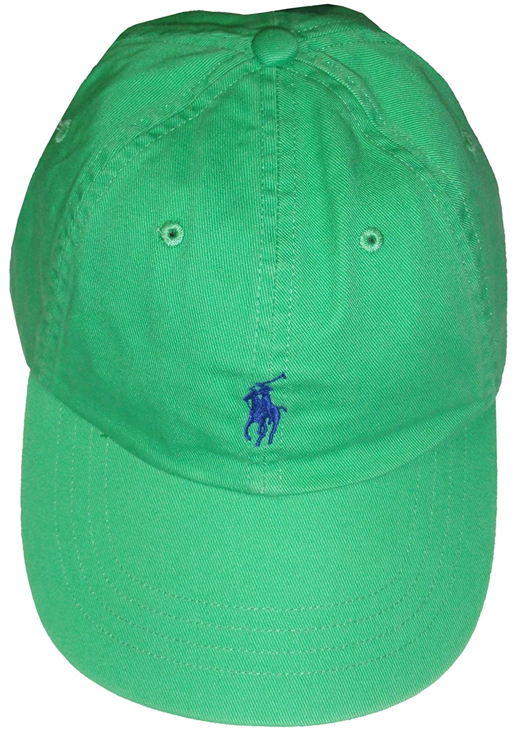 f54ec242594 Amazon.com  Polo by Ralph Lauren Men s Hat Ball Cap Green with Blue Pony   Clothing