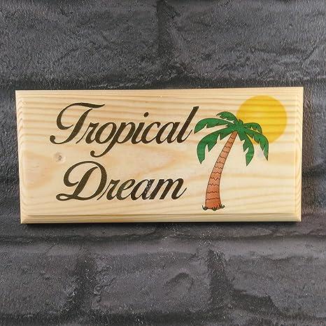 Desconocido Placa Personalizable para árbol de Palma, Cartel, Nombre de casa de Regalo o
