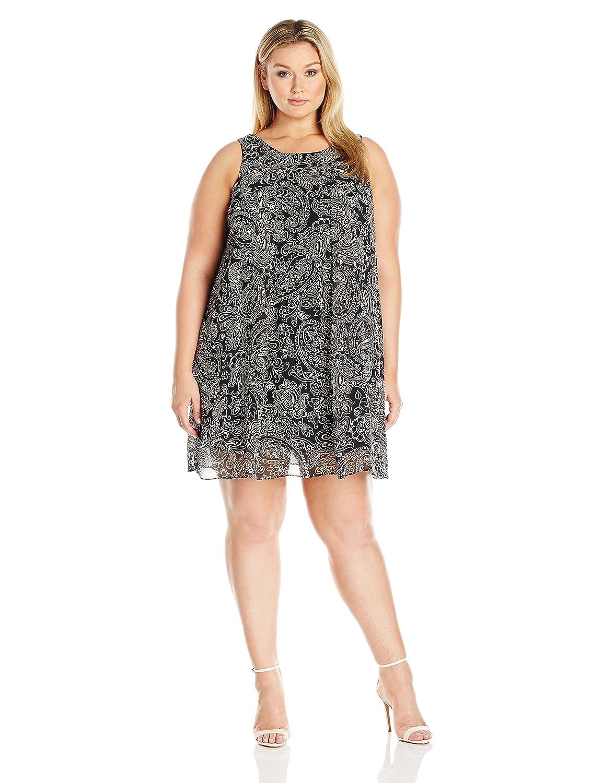 MSK Womens Plus-Size Plus Size Sleeveless Woven Trapeze MSK Women' s Dresses 2064468A