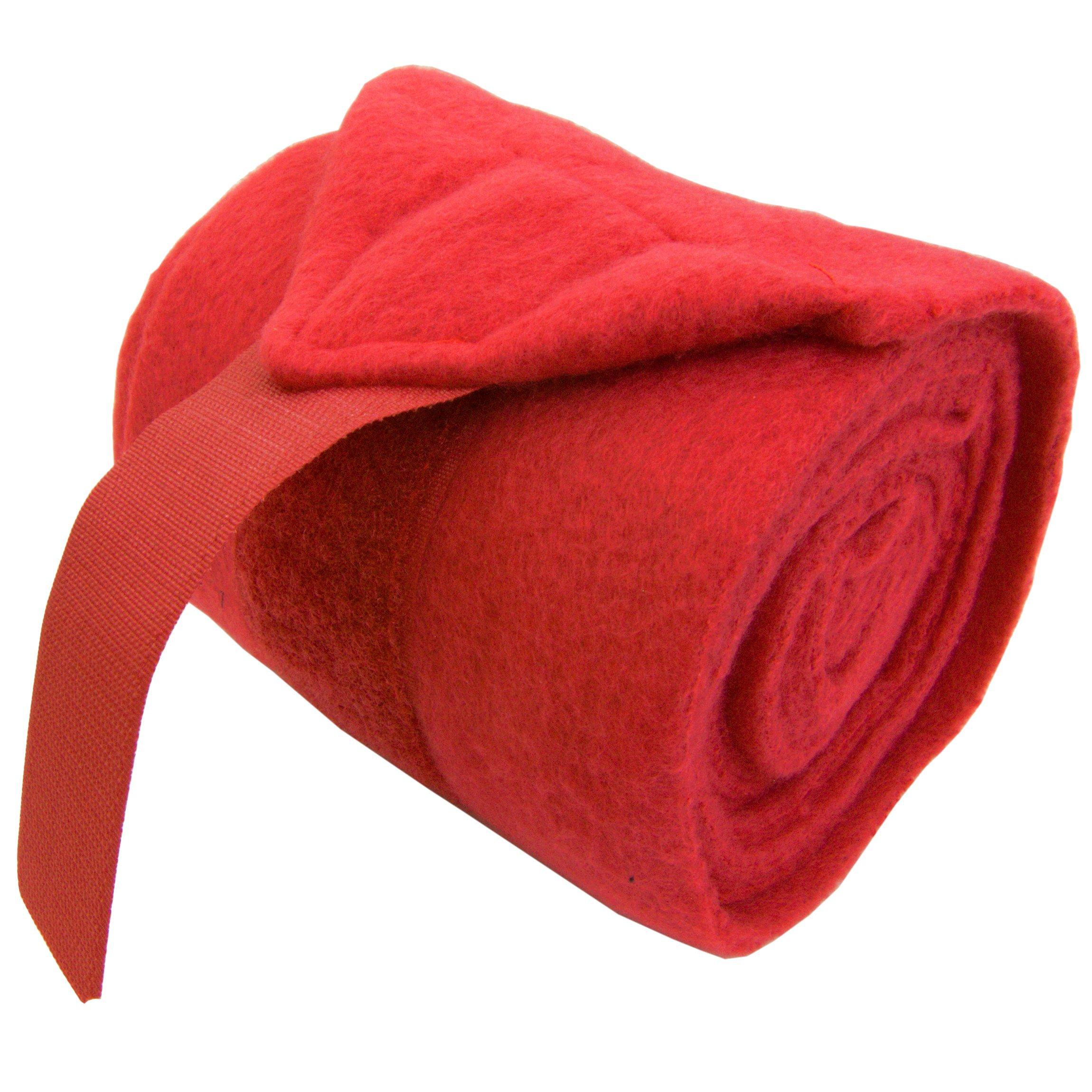 Intrepid International Full Horse Polo Wrap Set, Red