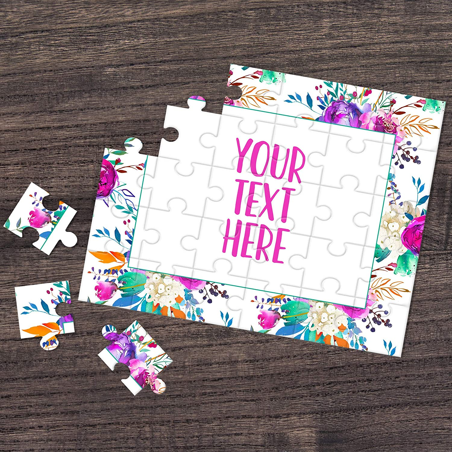 Custom Puzzle Personalized Puzzle Wedding Announcement Pregnancy Announcement CYOP0070 Announcement Ideas Create Your Own Puzzle