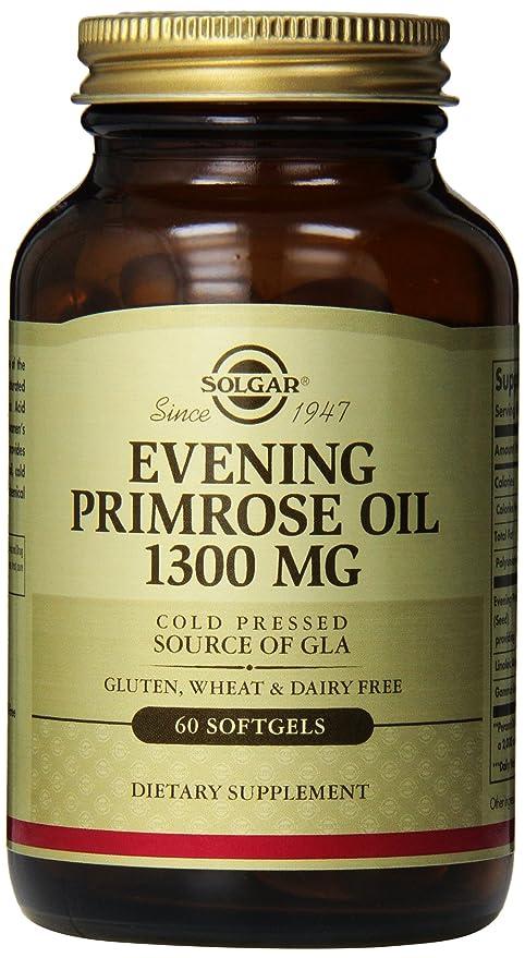 Solgar Evening Primrose Oil Supplement, 1300 mg, 60 Count by Solgar