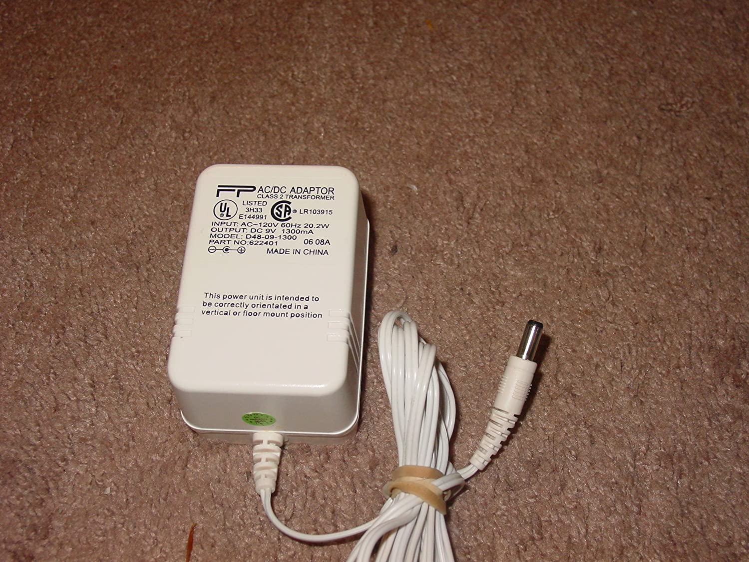 FP PP AC Adapter Power Supply 9V DC 1300mA 20.2W Model Part D48-09-1300 622401