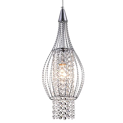 crystal pendant lighting 1 light chrome chandeliers kitchen island