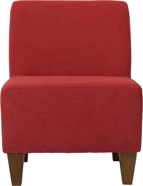 Platinum Silver Parker Lane Penelope Armless Slipper Chair