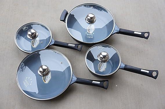 Healthy Legend Deluxe 8 Pc German Weilburger Ceramic Coating Non ...