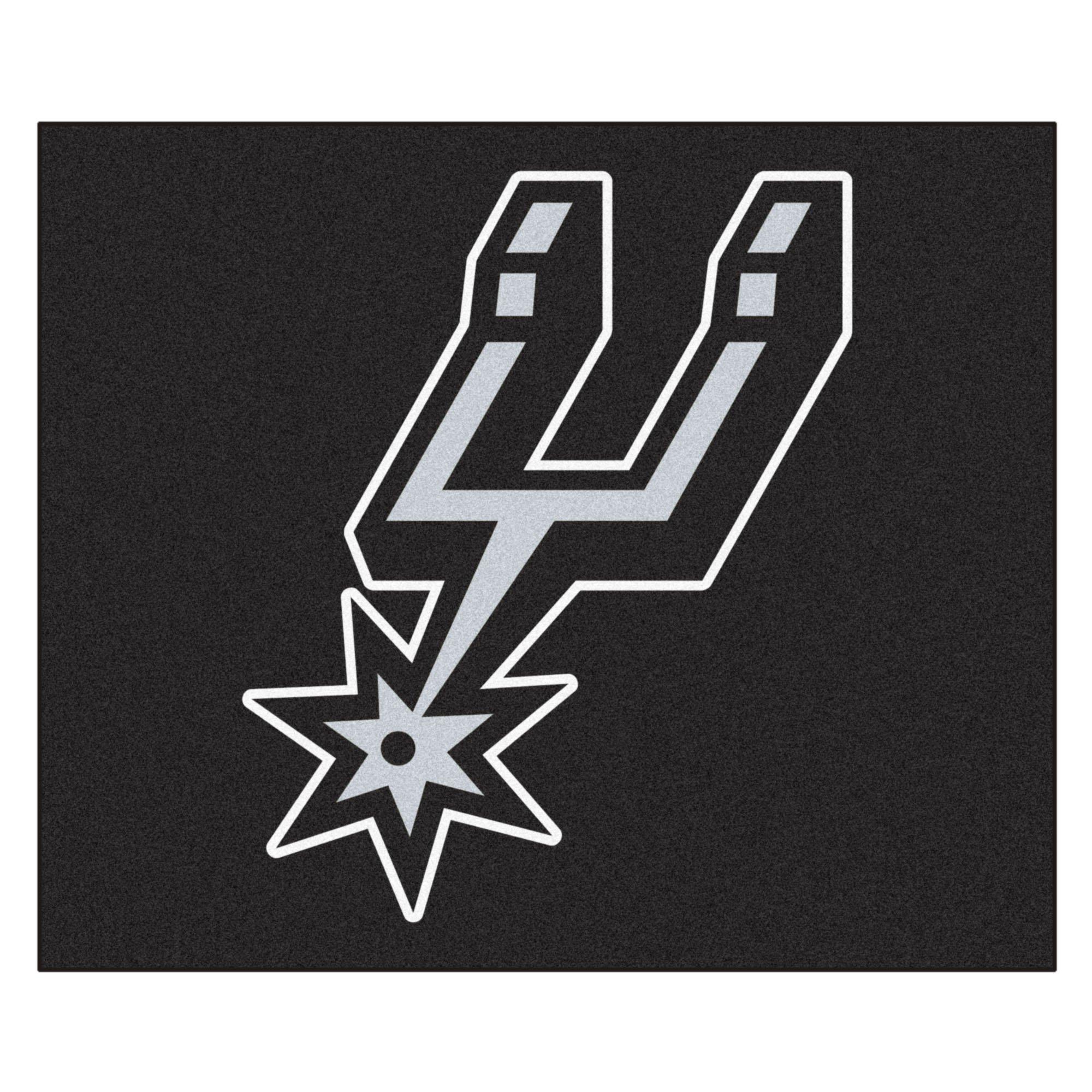 FANMATS 19476 NBA - San Antonio Spurs Tailgater Rug , Team Color, 59.5''x71''