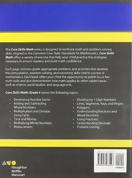 Steck-Vaughn Core Skills Mathematics: Workbook Grade 4: STECK ...