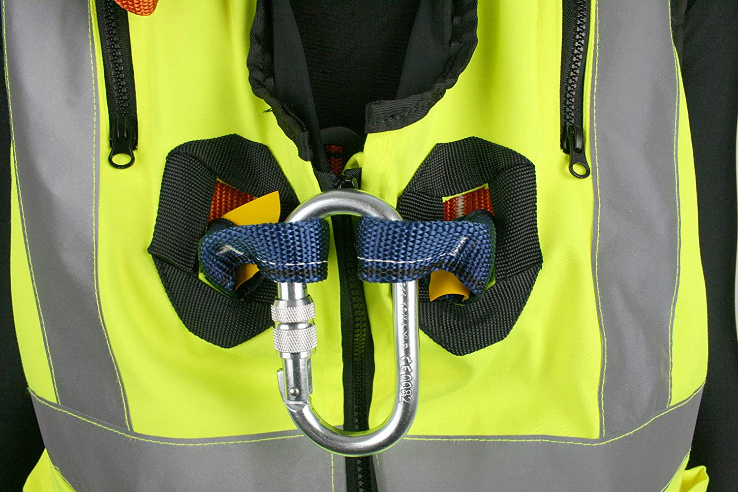 G-Force Yellow Hi Viz Elasticated Full Body Height Safety Fall Arrest Harness Jacket With Quick Release Buckles M-XL