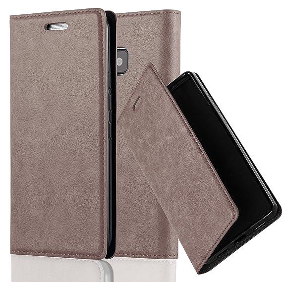 Cadorabo Hülle für HTC ONE M9 (3.Gen.) - Hülle in Kaffee BRAUN – Handyhülle mit Magnetverschluss, Standfunktion und Kartenfac